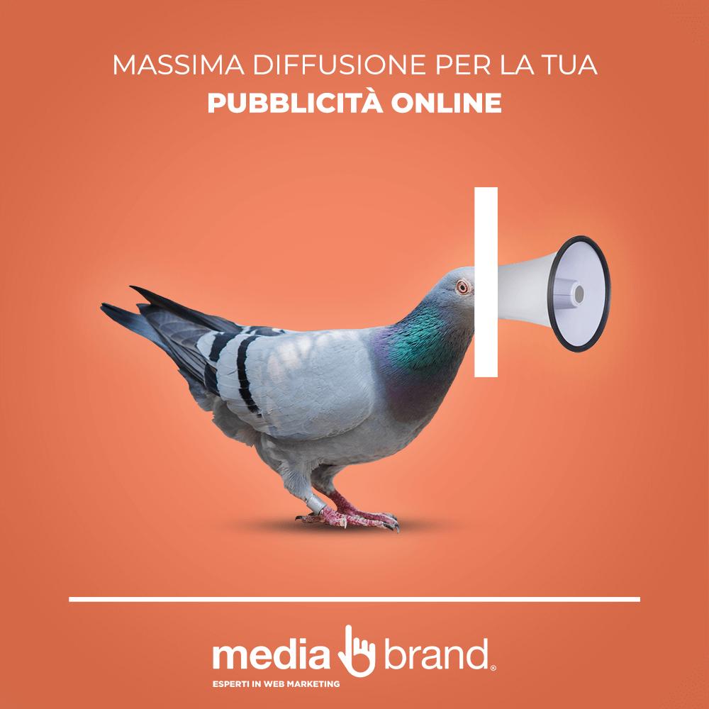 massima diffusione alle campagne adv online come piccione viaggiatore