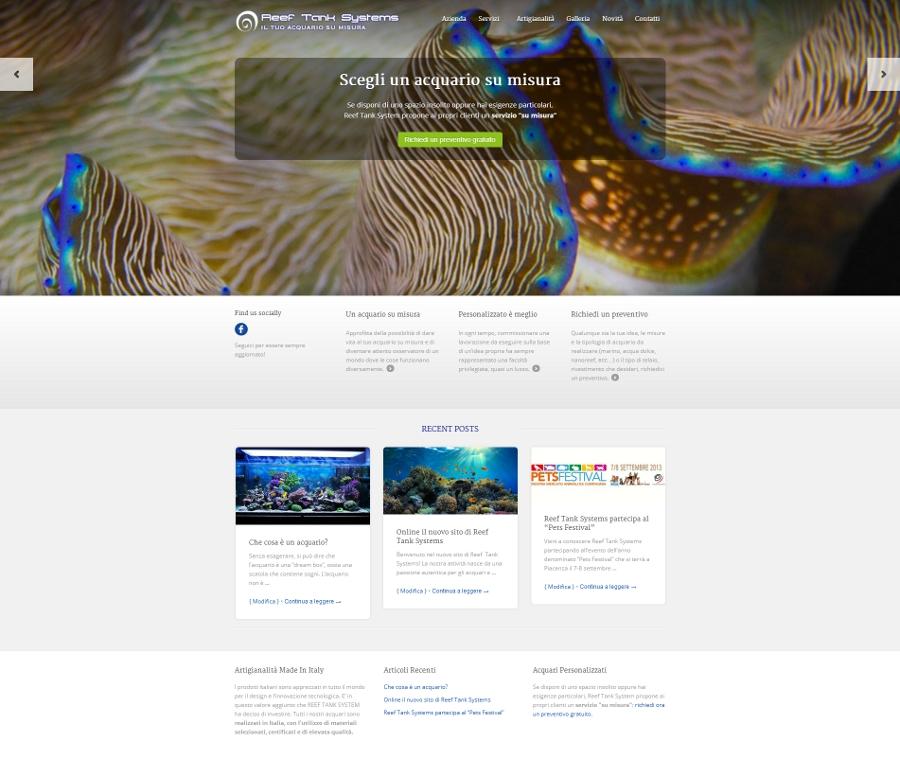 Mediabrand per reef tank systems web marketing acquari su - Mobili per acquari su misura ...