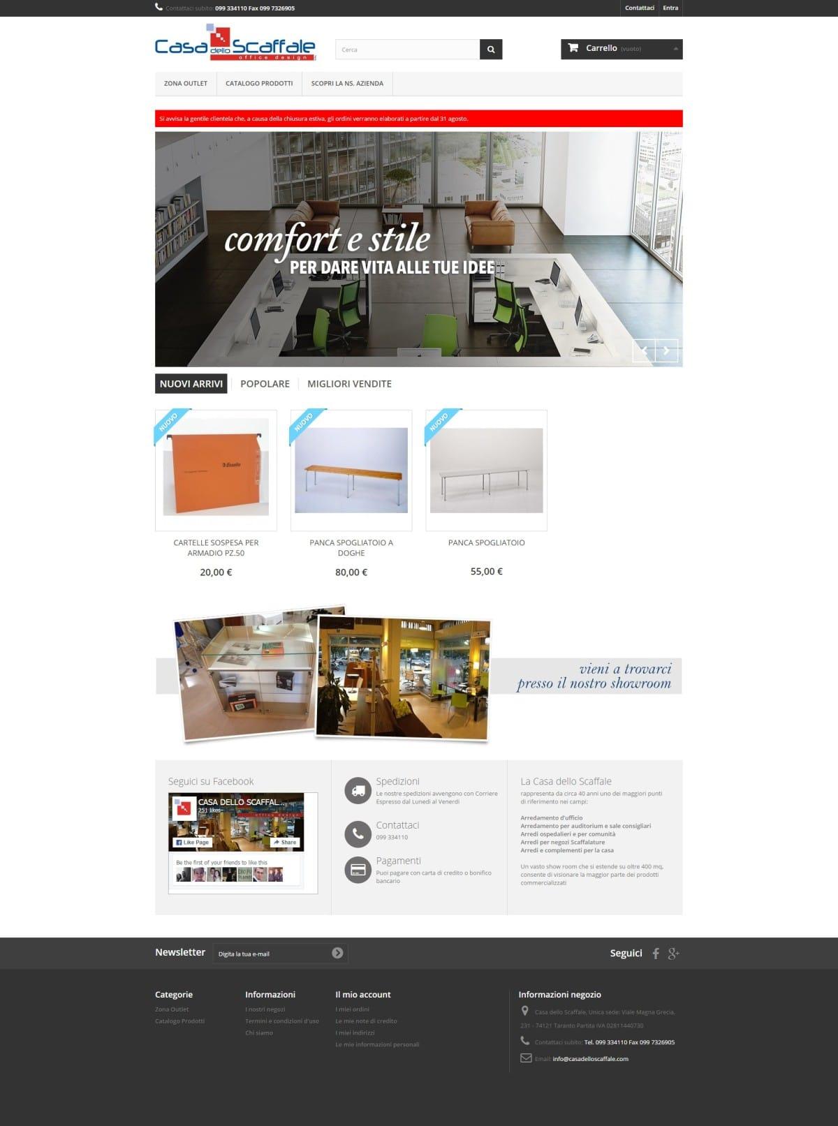 Web marketing ecommerce arredamento uffici for E commerce arredamento