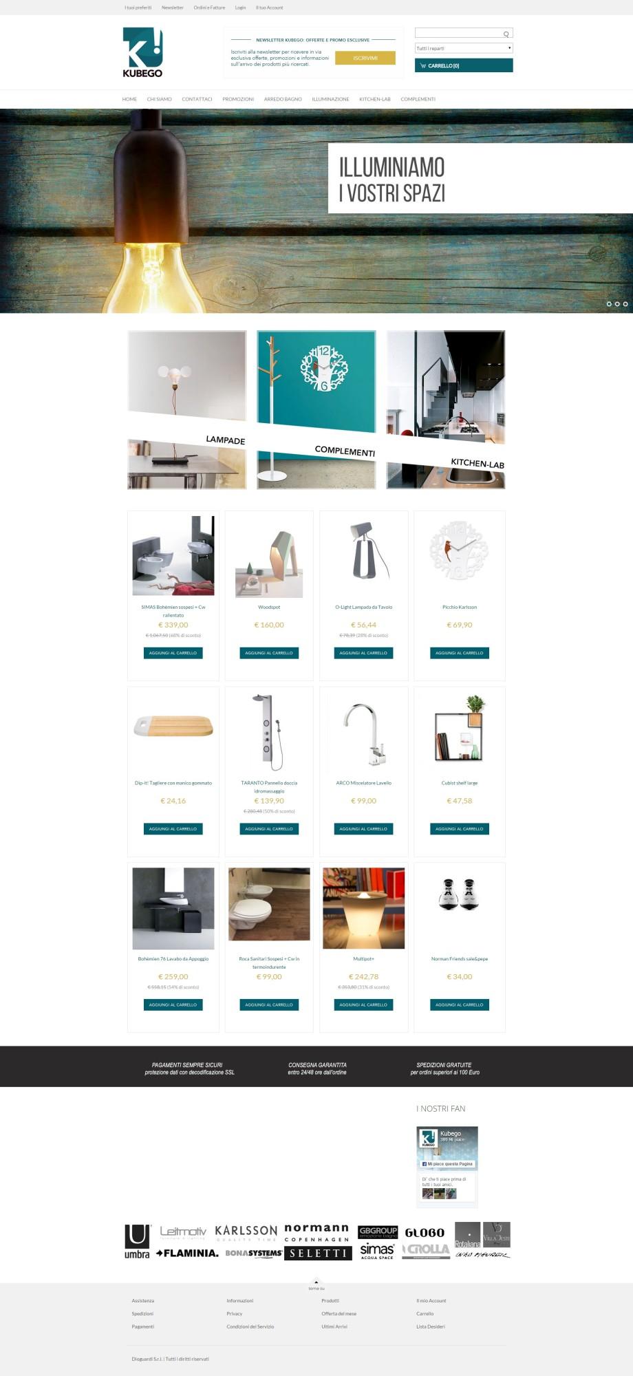 Realizzazione e-commerce Arredo Bagno Taranto